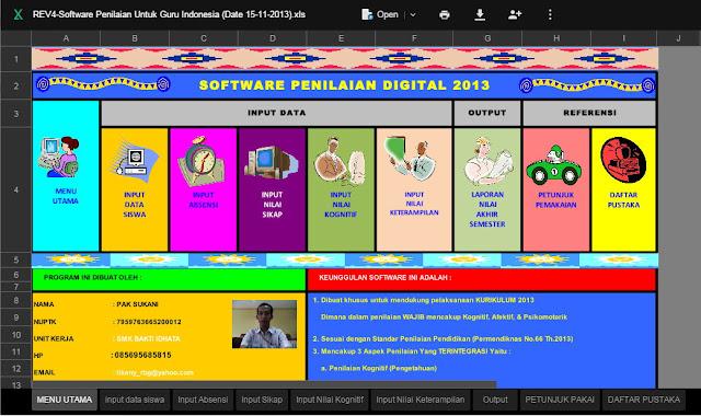 Kumpulan Aplikasi Penilaian Kurikulum KTSP dan 2013 Format Excel