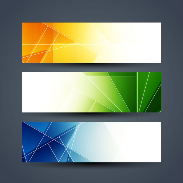 Colorful abstract banners set Free Vector