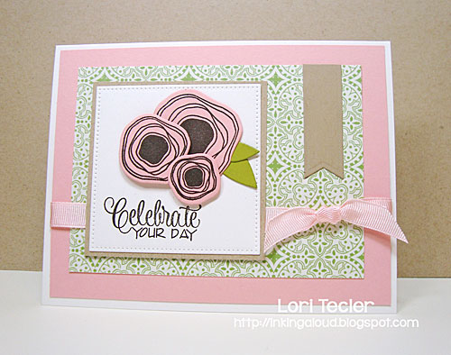Celebrate Your Day card-designed by Lori Tecler/Inking Aloud-stamps from Verve Stamps