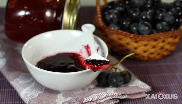 Resep cara membuat selai anggur