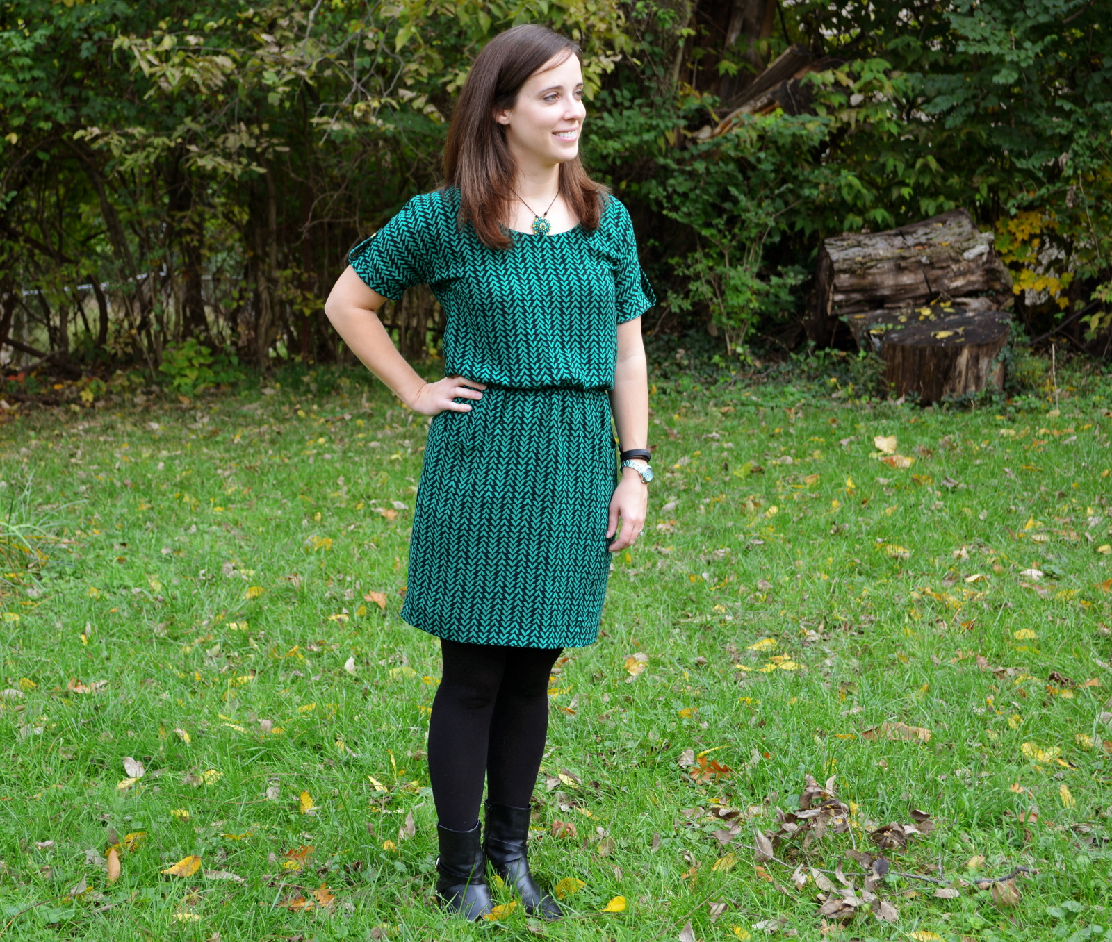 cozy birdhouse | chevron bettine dress