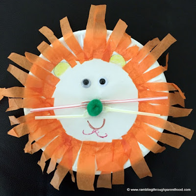 Easy to make and fun to do Paper Plate Lion