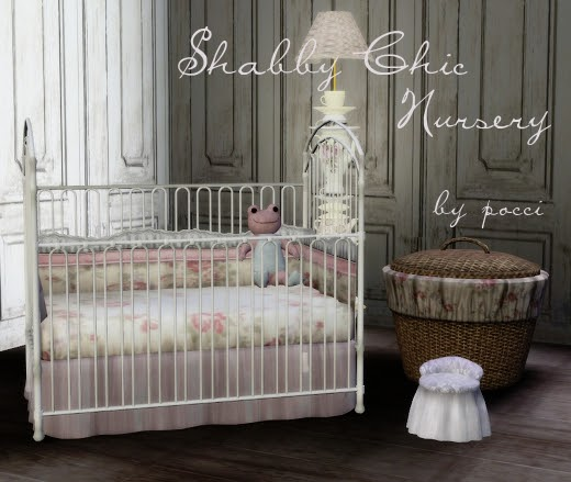 10 Shabby Chic Nursery Design Ideas: My Sims 3 Blog: Shabby Chic Nursery Set By Pocci