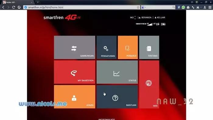 Smartfren Andromax M2P 4G LTE WebUI