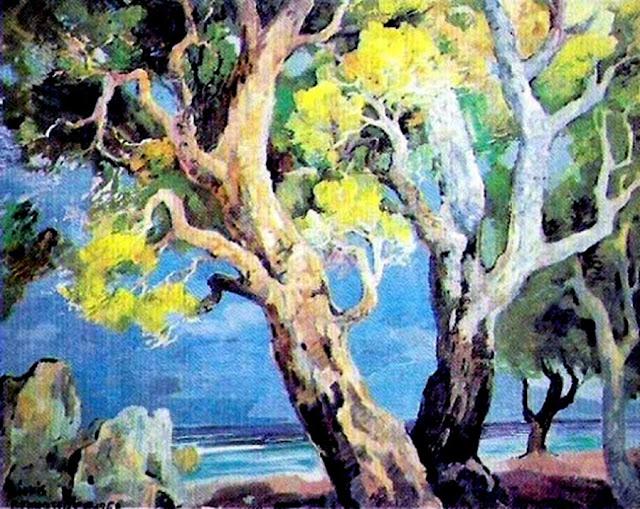 Dionís Bennássar, Cala San Vicent, Mallorca en Pintura, Cala Mallorquina, Paisajes de Mallorca, Mallorca Pintada