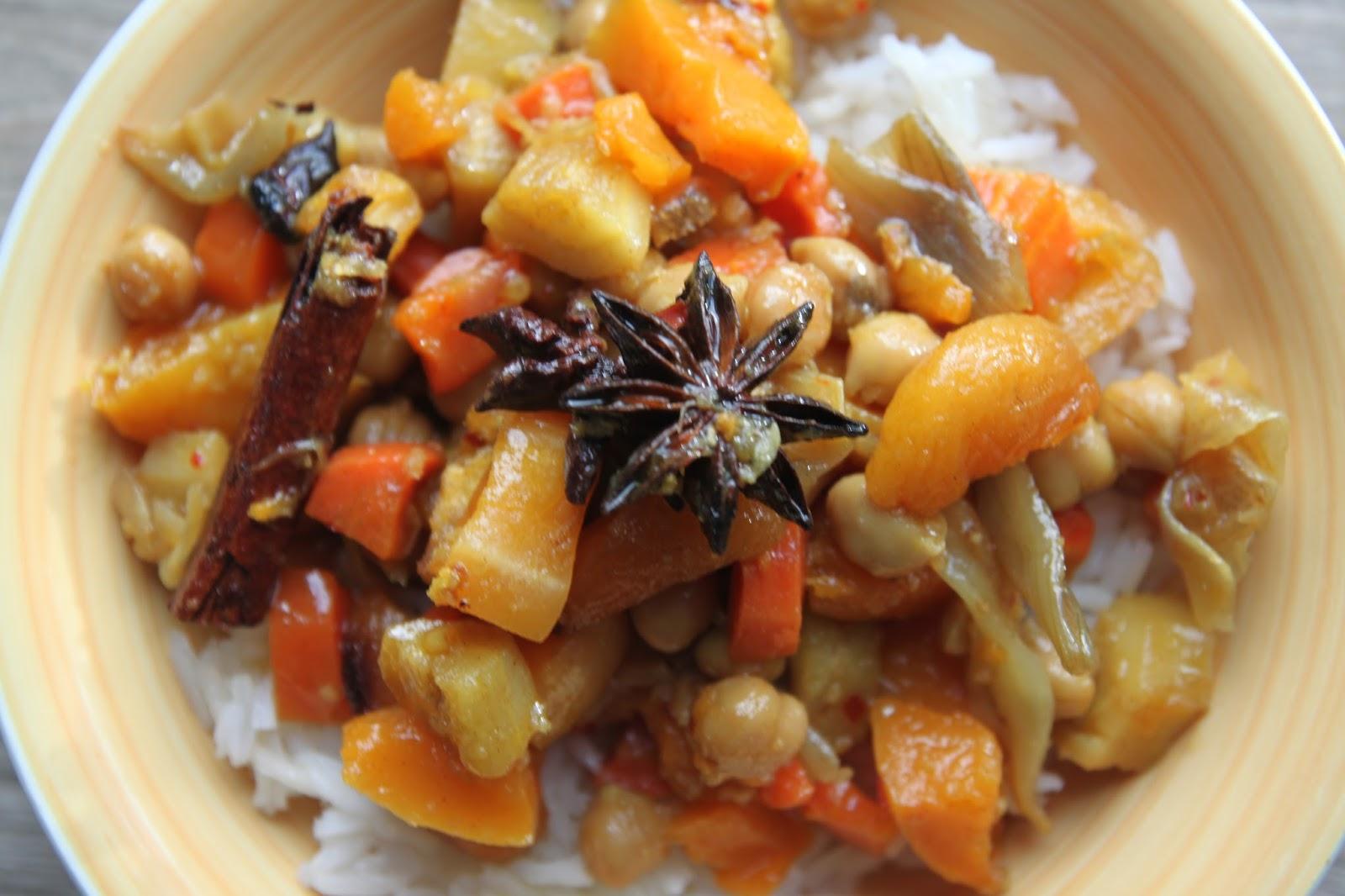 Pieczone warzywa  z   morelami