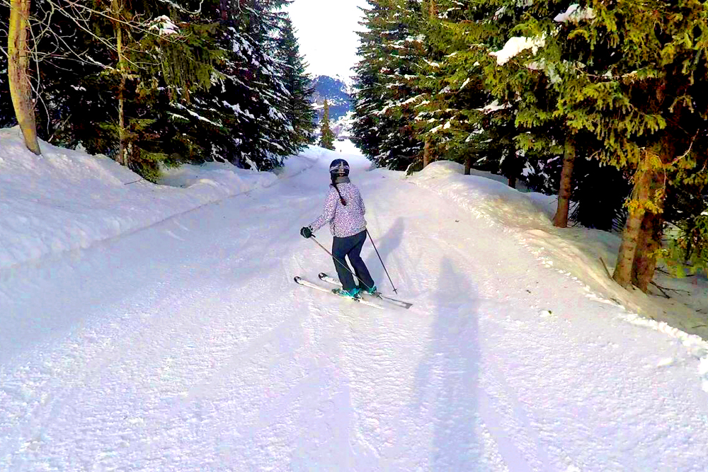 Skiing through Courchevel forest, France - travel & lifestyle blog