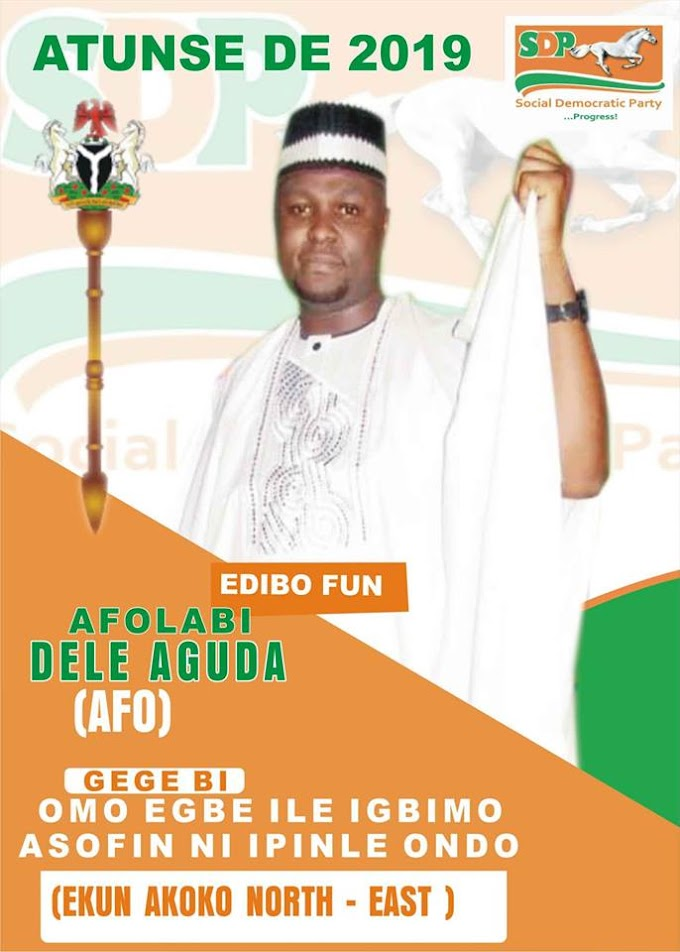 MY CONSTITUENCY... MY PRIORITY COME 2019.