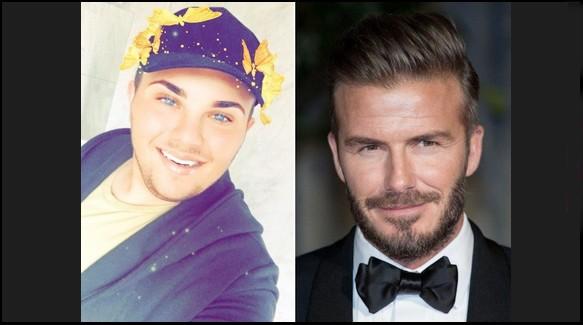 Jovem gasta 85 mil reais para ficar parecido com David Beckham