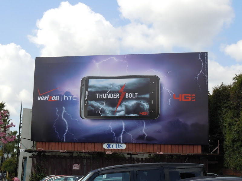 Verizon Thunderbolt billboard