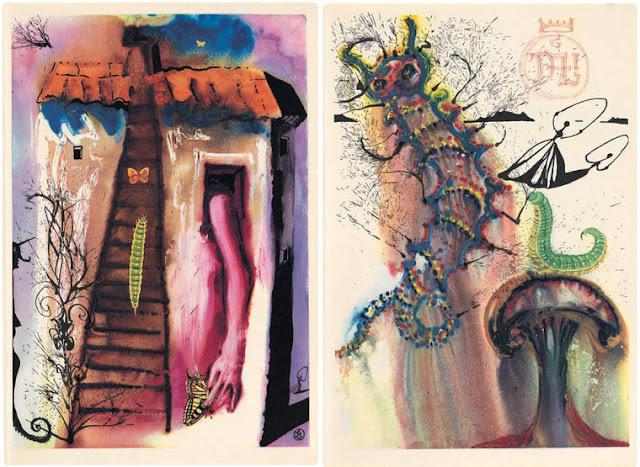 Alice no País das Maravilhas sobre os traços do mestre Salvador Dali