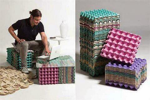 How to recycle stunning recycled furniture collection - Mesas de carton ...