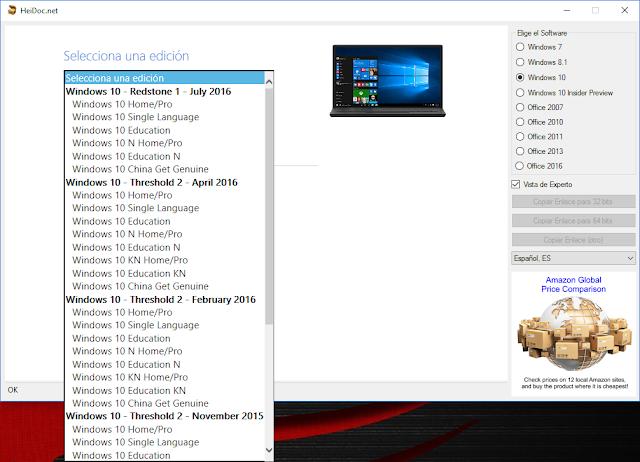 Microsoft Windows ISO Download Tool 5.28 | Descargar las ISO de Windows y Office desde los servidores de Microsoft