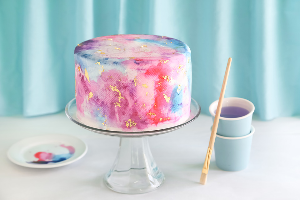 Watercolor Graffiti Chocolate Cake | Sprinkle Bakes