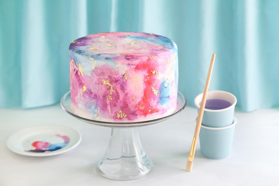 Watercolor Graffiti Chocolate Cake Sprinkle Bakes