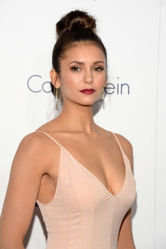 Nina Dobrev Puts Cleavage On Show At The Elle Women In