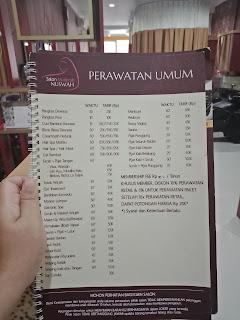 harga perawatan di Salon Muslimah