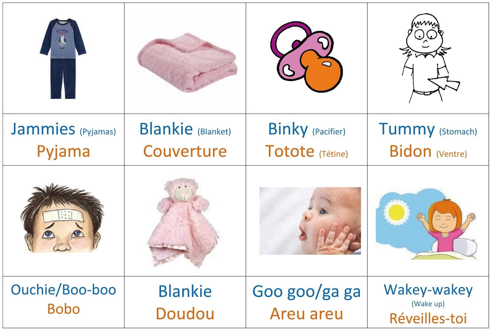 Flashcards Baby Talk Enfant Bilingue