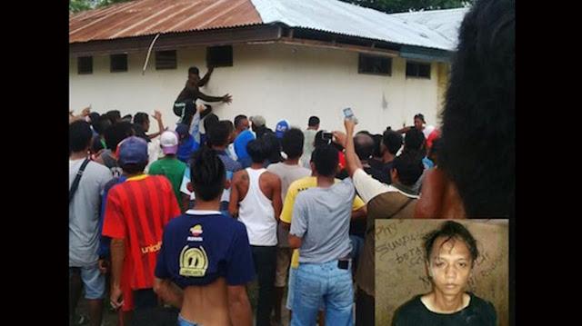 Massa mengamuk dan meringsek ke dalam tahanan Polsek Sabu