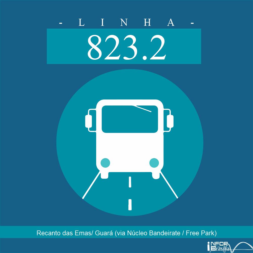 Horário de ônibus e itinerário 823.2 - Recanto das Emas/ Guará (via Núcleo Bandeirate / Free Park)