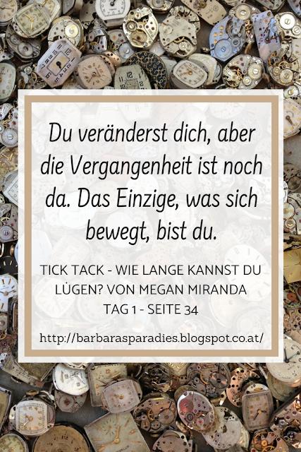 Buchrezension #215 TICK TACK - Wie lange kannst du lügen? von Megan Miranda