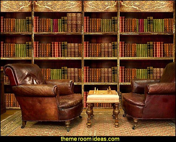 Library Book shelf Mural wallpaper