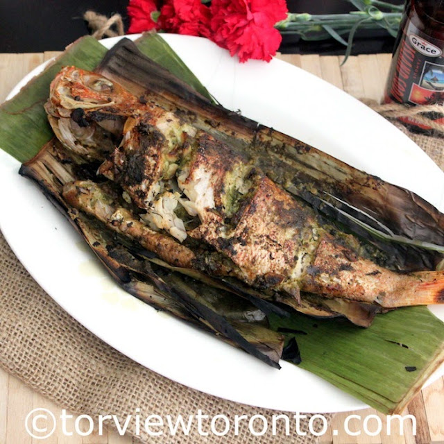 Grilled Snapper in Banana Leaves