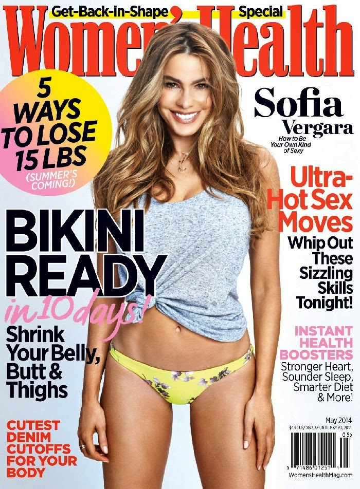 fa15320f514 Sofia Vergara Flaunts Amazing Bikini Body in Women's Health for May 2014  Issue