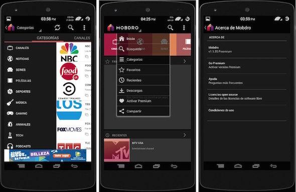 tv watch for mobile فرجني موبايل: تطبيق Mobdro لمشاهدة القنوات العالمية والمباريات بدون تقطيع من جوالك وبدقة عالية