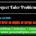 Project Euler | Problem 13 | First ten digits of large sum