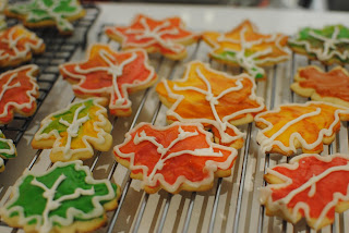 fall leaves cookies