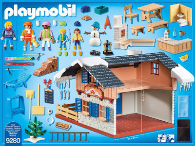 PLAYMOBIL Family Fun - 9280 Cabaña de esquí | Casa de la montaña con nieve | 2018 COMPRAR JUGUETE - TOYS - JOGUINES contenido