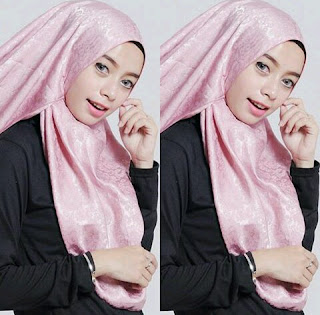 Model Pashmina Satin motif bunga