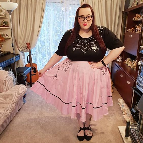 Hell Bunny Miss Muffet Skirt and Spider Web Jumper