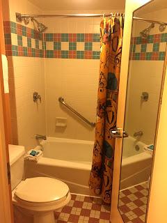 bathroom at Disney's Allstar Music