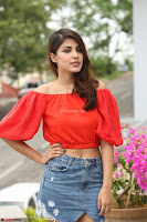 Rhea Chakraborty in Red Crop Top and Denim Shorts Spicy Pics ~  Exclusive 062.JPG