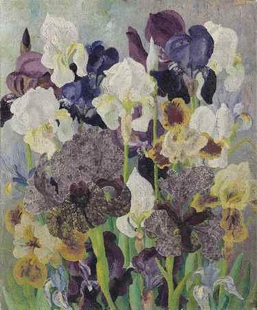 May Flowering Irises No 2, 1935. Cedric Morris. Lirios floreciendo en Mayo