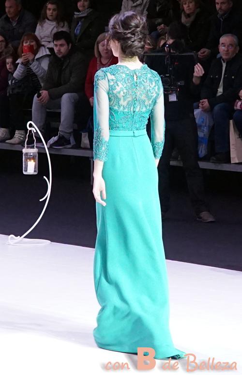 Vestido verde encaje espalda