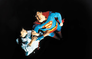 Christopher Reeve and Margot Kidder as Superman and Lois Lane in Superman (1978)