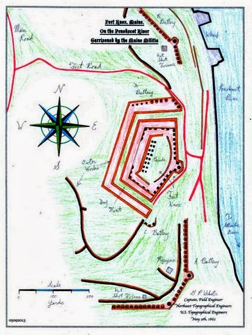 fort knox maine map Civil War Maps And Reports Neb Fort Knox Maine See Caption fort knox maine map