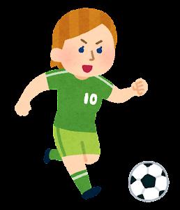 サッカー選手のイラスト(女性・白人)