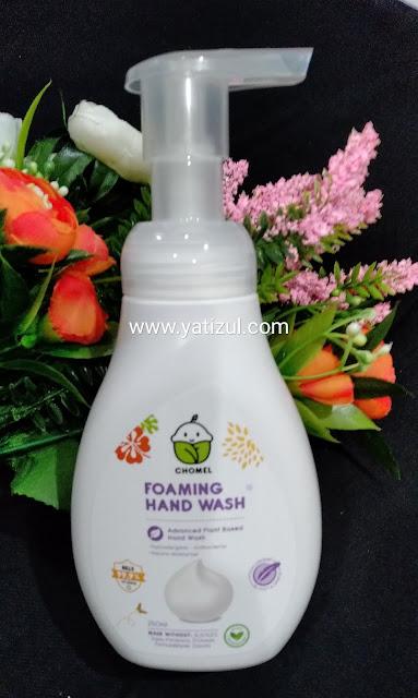 Chomel, CHOMEL, Produk bayi CHOMEL, produk bayi jenama CHOMEL, CHOMEL Foaming Hand Wash, CHOMEL Hand Sanitizer, produk bayi natural, produk bayi tiada bahan kimia, produk bayi semulajadi, status halal produk CHOMEL,