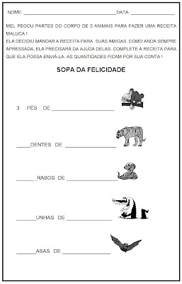 Atividade de Leitura - Atividades de Lingua Portuguesa - Sopa Maluca