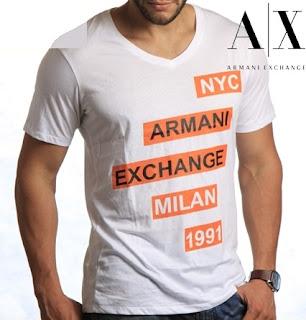 Camisas armani exchange original t-shirt camiseta  7bb8f2328b38d