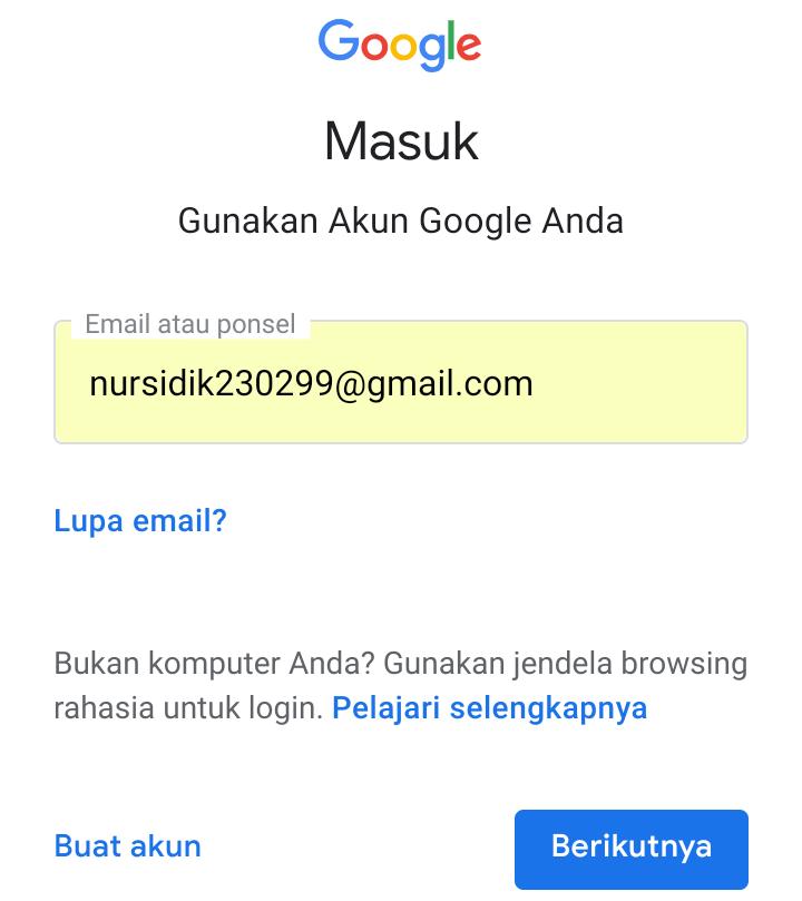 Cara Masuk Ke Akun Google Di Smartphone Android Infotechku