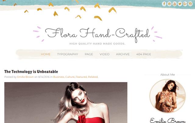 Flora Hand-Crafted Blogger teması