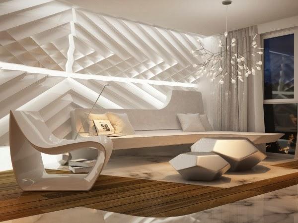 Resultado de imagem para decoraçao futurista