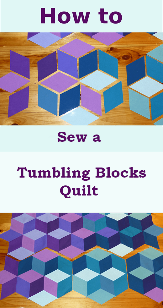 How to Sew a Tumbling Blocks Quilt