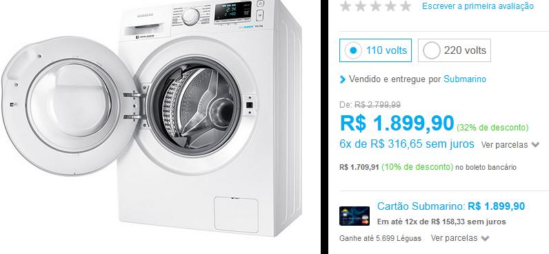 http://www.submarino.com.br/produto/126078920/lavadora-de-roupas-samsung-10-2kg-ww6000j-branca?opn=AFLNOVOSUB&franq=AFL-03-171644&loja=03