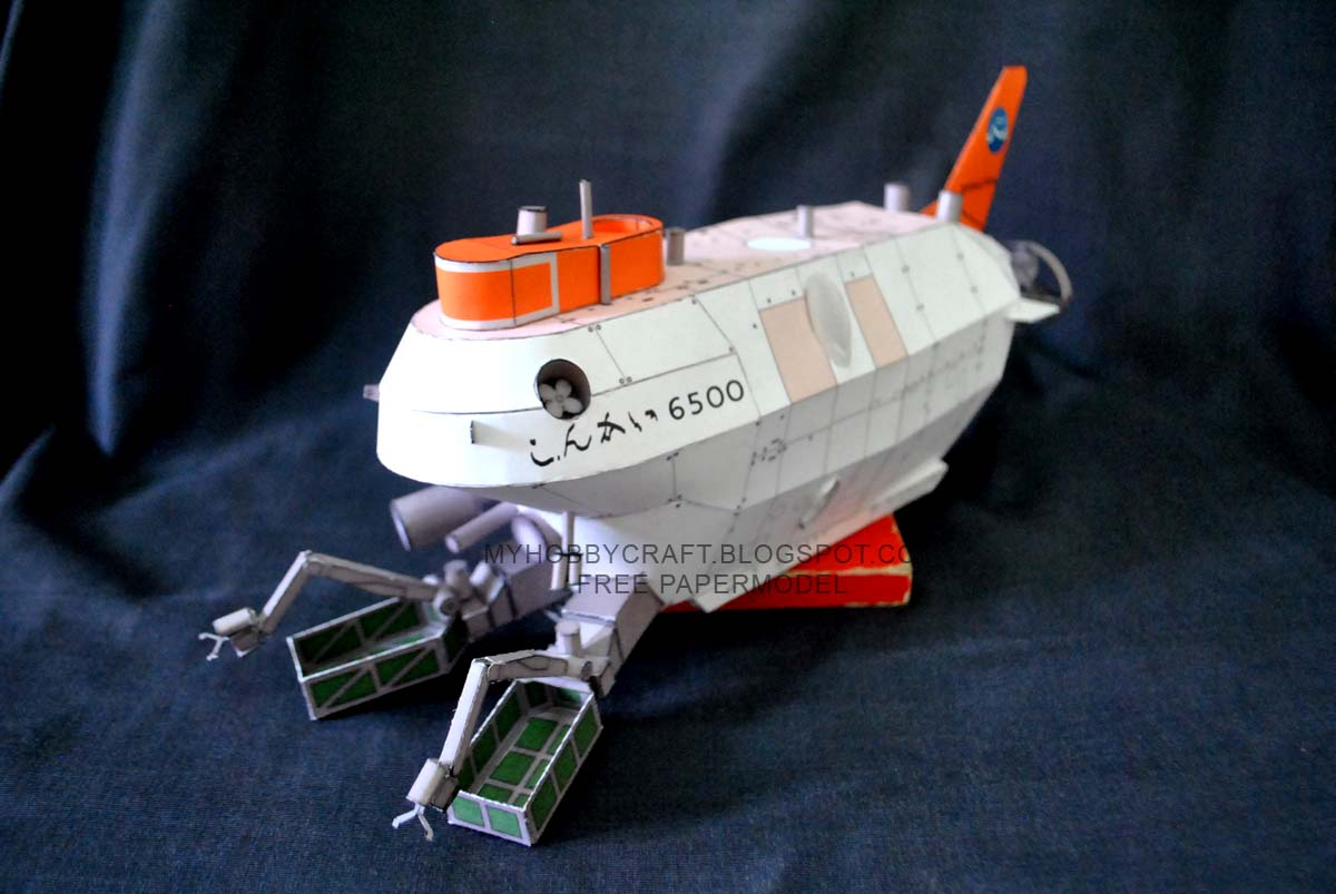 SHINKAI 6500 Paper Model Submersible